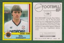 Luton Town Mal Donaghy Northern Ireland 139